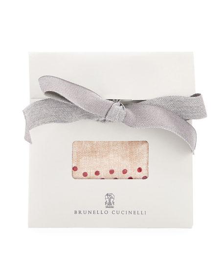 Brunello Cucinelli Large Floral Silk Pocket Square