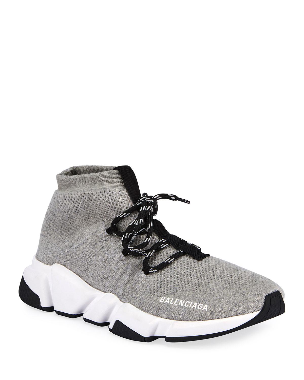 Sweatshirt Knit Speed Lace Up Sneakers