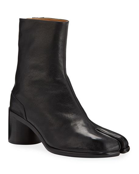Maison Margiela Men's Tabi Split-Toe Leather Ankle Boots