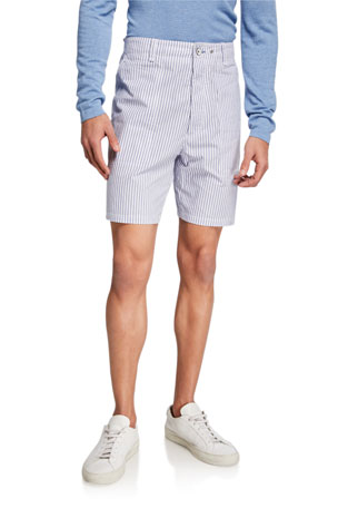 Rag & Bone Men's Franklin Striped Cotton Shorts