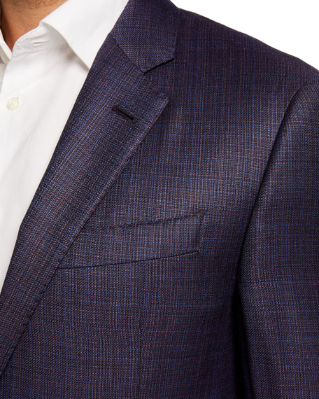 Emporio Armani Men's G-Line Windowpane Sport Jacket