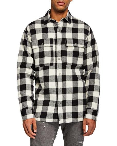 Ksubi Men's Dub Check Sport Shirt