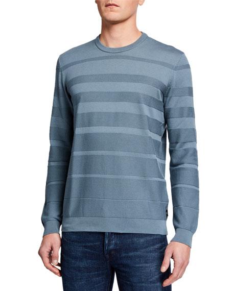 Emporio Armani Men's Horizontal Weave Crewneck Sweater