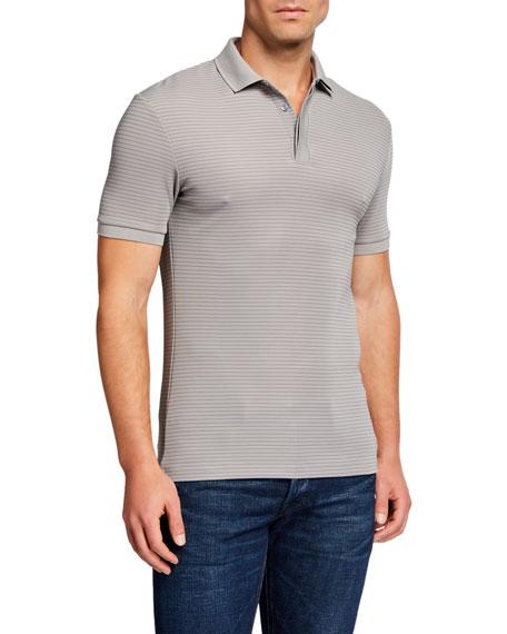 Emporio Armani Men's Striped Polo Shirt