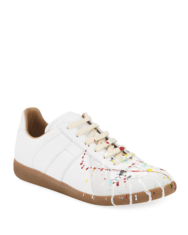 Replica Paint-Splatter Low-Top Sneakers