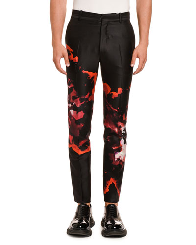 Men's Tie-Dye Satin Trousers