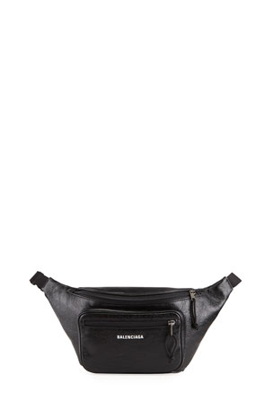 Balenciaga Men's Explorer Lambskin Belt Bag