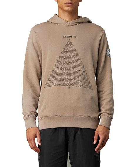 Ovadia Men's Behind The Veil Typographic Hoodie Sweatshirt