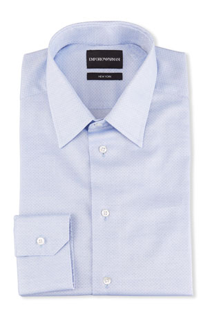 Emporio Armani Men's New York Textured Cotton Dress Shirt