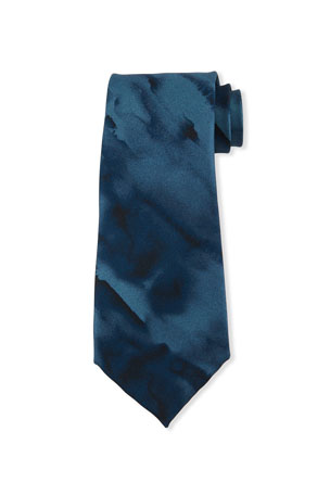 Emporio Armani Watercolor Printed Tie