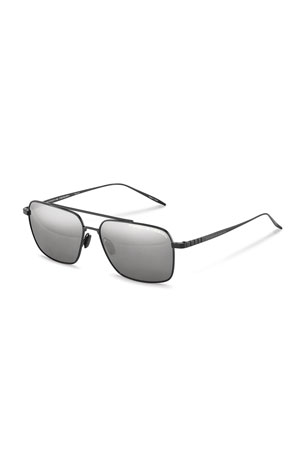 Porsche Design Men's Performance Titanium Square Polarized Sunglasses