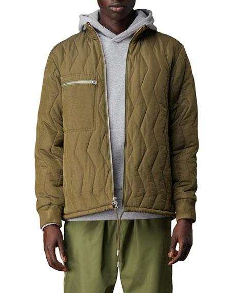 Ovadia Men's Adar Quilted Zip-Front Jacket
