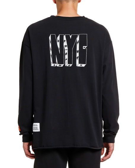 Image 2 of 2: Men's CTNMB Spray Paint Graphic Sweatshirt