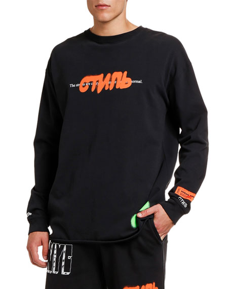 Image 1 of 2: Men's CTNMB Spray Paint Graphic Sweatshirt