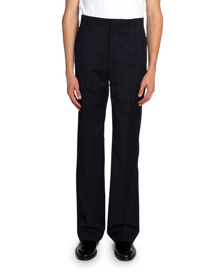 Balenciaga Men's Flamme-Knit Straight-Leg Pants