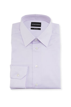 Emporio Armani Men's New York Point-Collar Micro-Weave Dress Shirt