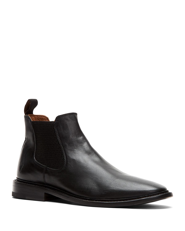 Frye Men's Paul Black Leather Chelsea Boots