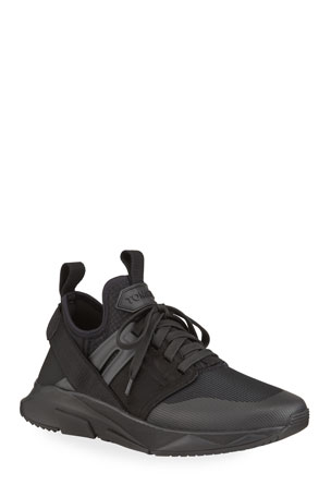TOM FORD Men's Tonal Knit Military Trainer Sneakers