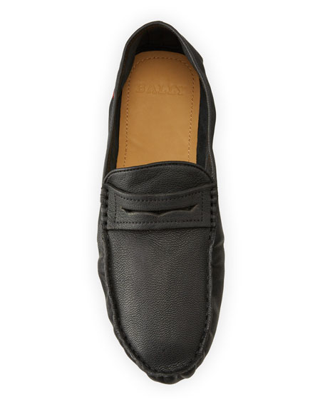 Image 2 of 5: Bally Men's Goat Leather Penny Drivers