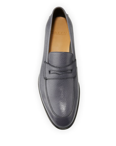 Image 2 of 4: Bally Men's Webb Deer Leather Penny Loafers