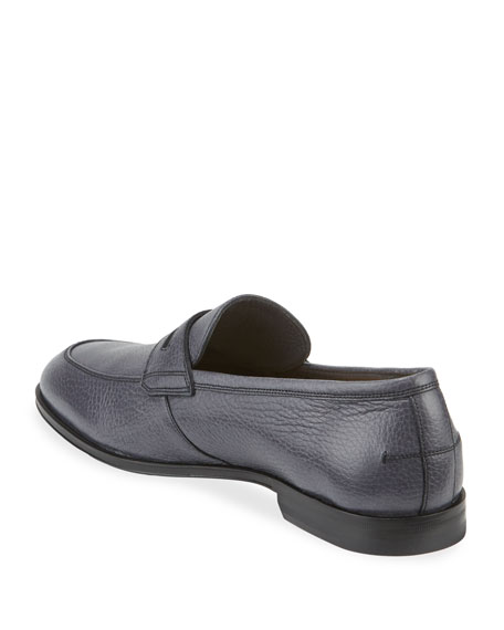 Image 4 of 4: Bally Men's Webb Deer Leather Penny Loafers