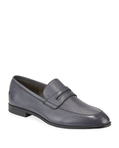Image 1 of 4: Bally Men's Webb Deer Leather Penny Loafers