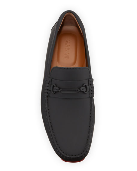 Image 2 of 5: Bally Men's Pitaval Leather Drivers