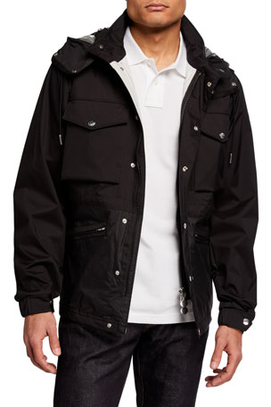 Moncler Men's Sienne Nylon Field Jacket