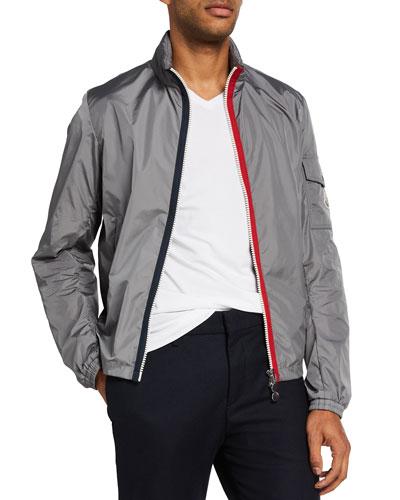 Men's Keralle Nylon Jacket w/ Signature Stripes