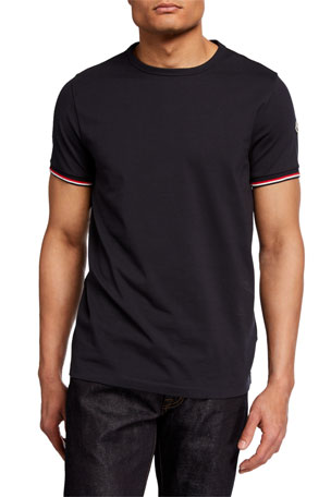 Moncler Men's Basic Logo Crewneck Tee