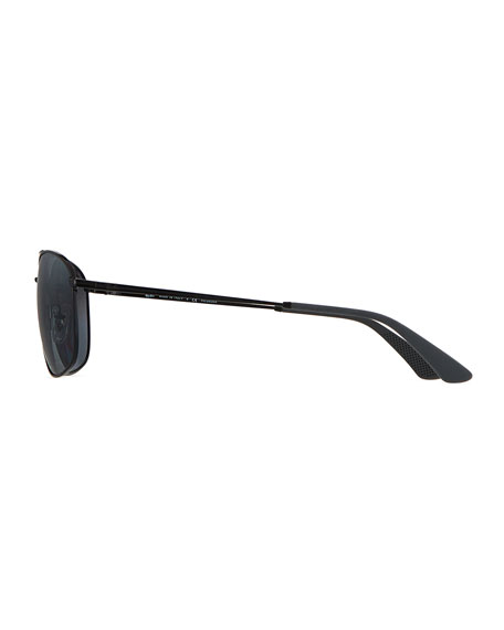 Image 3 of 3: Ray-Ban Men's Square Double-Bridge Polarized Sunglasses
