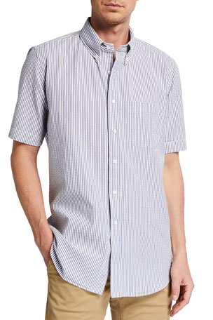 Ex Store Grid Check Short Sleeved Shirt with Breast Pocket