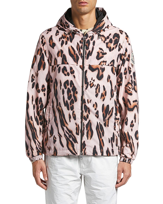 Moncler Men's 1952 Cheetah-Print Jacket