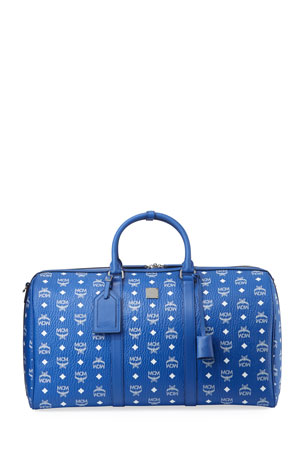 MCM Men's Large Visetos Weekender Duffel Bag