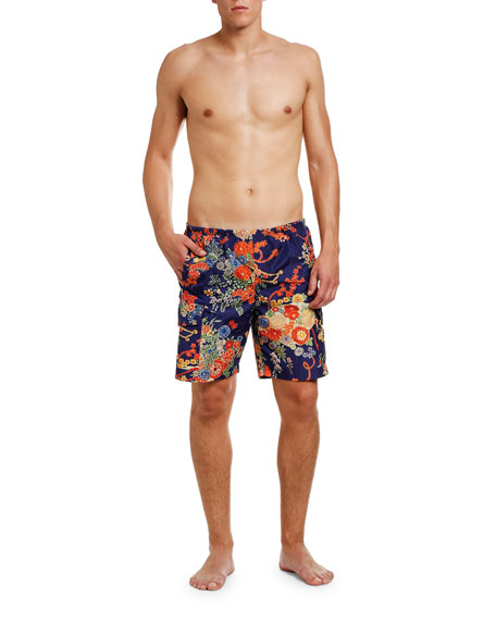 Palm Angels Men's Blooming Swim Shorts