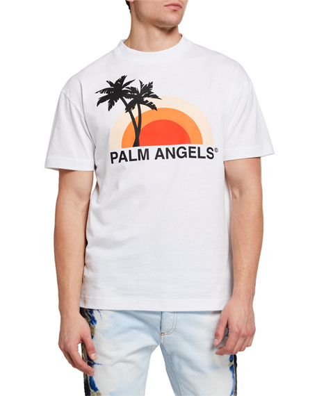 Image 1 of 2: Men's Sunset Graphic T-Shirt