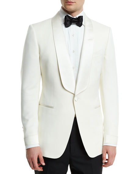 TOM FORD O'Connor Base Satin-Lapel Wool/Mohair Jacket