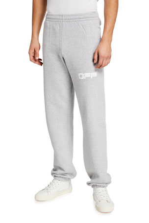 Off-White Men's Airport Tape Slim Sweatpants