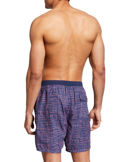 John Varvatos Star USA Men's Lummus Pattern Swim Bottom