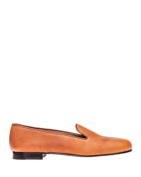 Stubbs and Wootton Men's Football Leather Venetian Loafers
