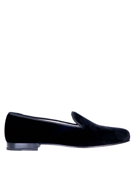 Stubbs and Wootton Men's Solid Velvet Venetian Loafers
