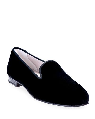 Men's Solid Velvet Venetian Loafers