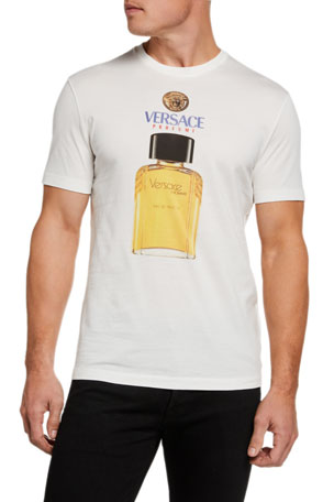 Versace Men's Cologne Bottle Graphic T-Shirt