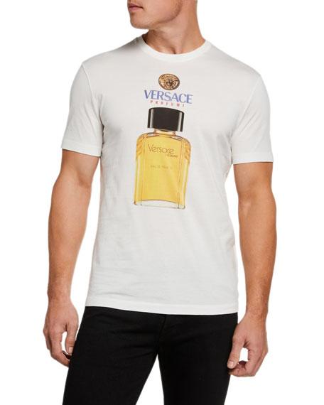 Versace Men's Cologne Bottle Graphic T-Shirt