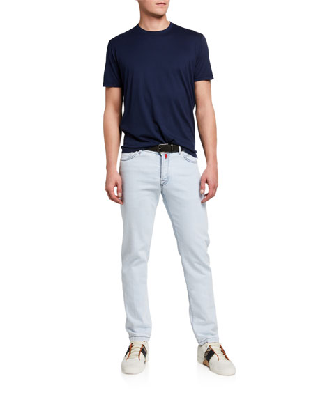 Image 3 of 3: Kiton Men's Straight-Leg Bleached-Wash Jeans