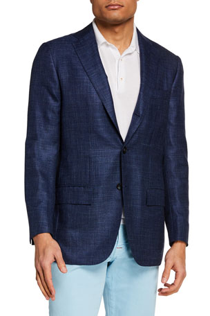Kiton Men's Textured Blazer