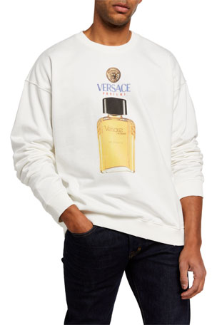 Versace Men's Cologne Bottle Sweatshirt