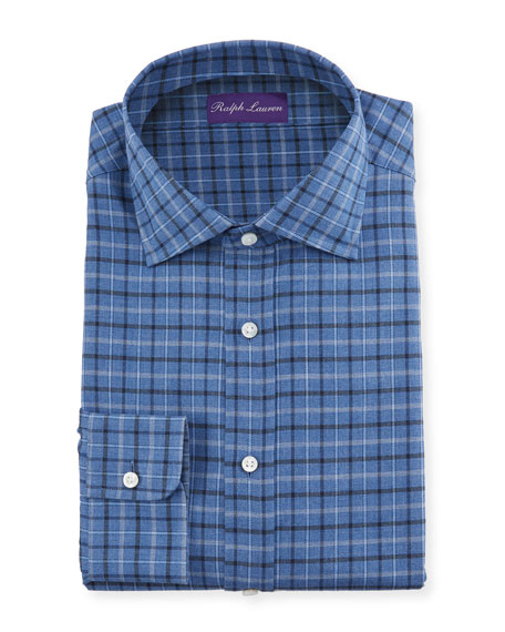 Ralph Lauren Purple Label Men's Tattersall Dress Shirt