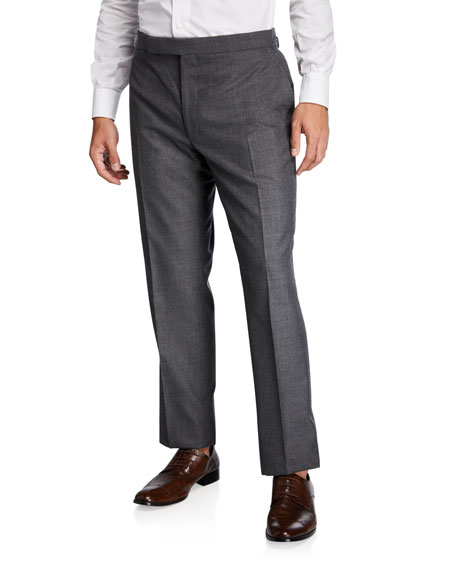 Ralph Lauren Purple Label Men's Flat-Front Wool Pants
