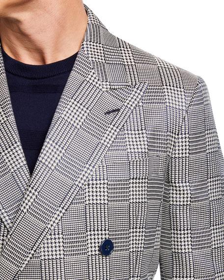Ralph Lauren Purple Label Men's Glen Plaid Double-Breasted Silk Sport Jacket